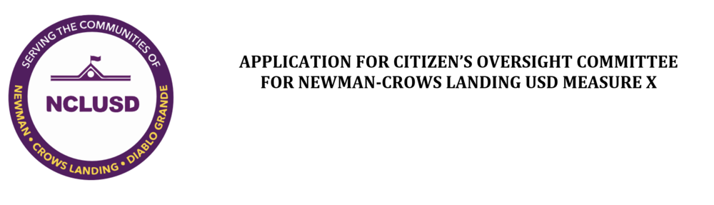 Citizens' Oversight Committee Application