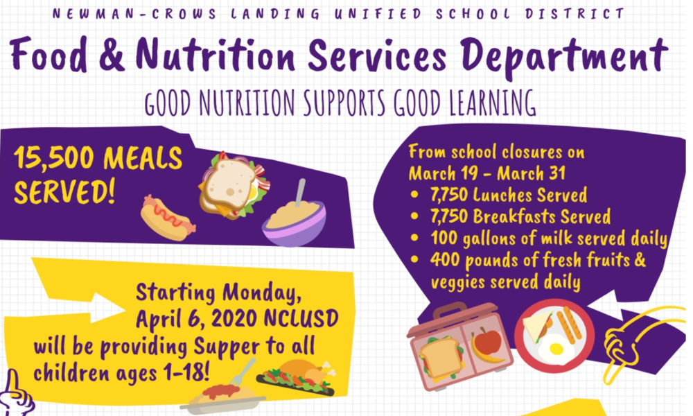 ​*Updated* NCLUSD School Closure Meal Schedule​