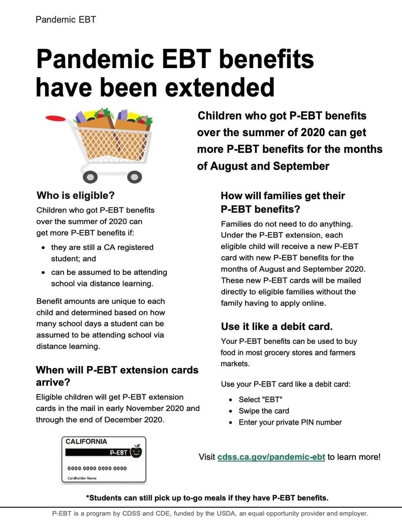 Pandemic EBT Extension