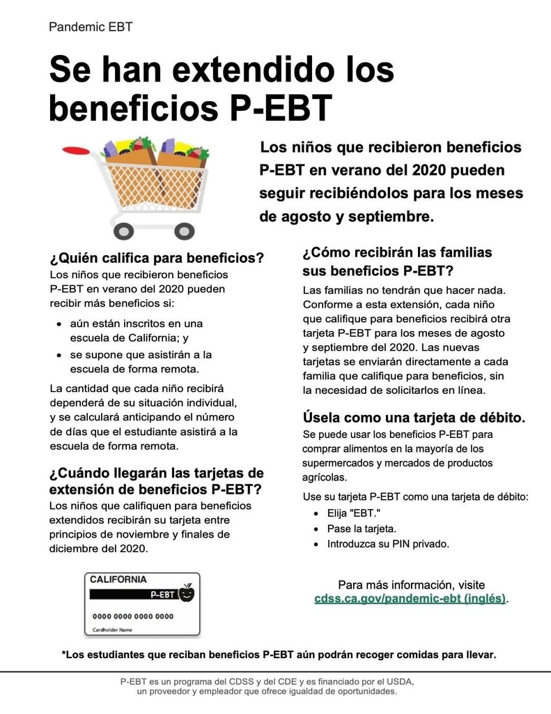 Pandemic EBT Extension-Spanish
