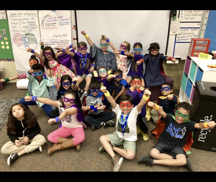 And the Super Hero Attendance Award for the week goes to Mrs. Cope's class! Great job third grade!!!