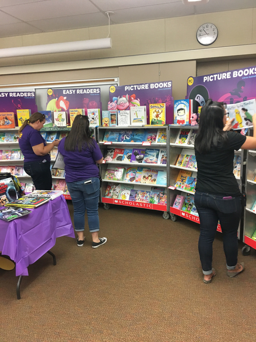Second grade teacher love the book fair