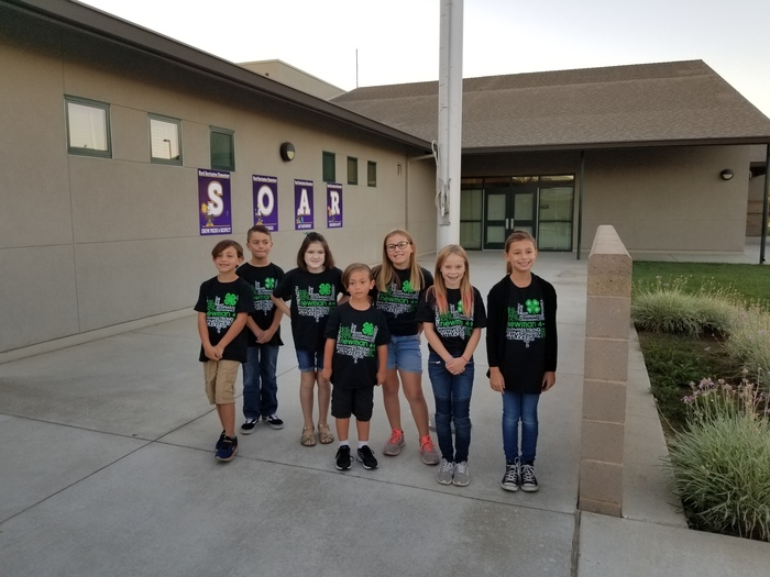 4-H Students raising the flag at Barrington Elementary