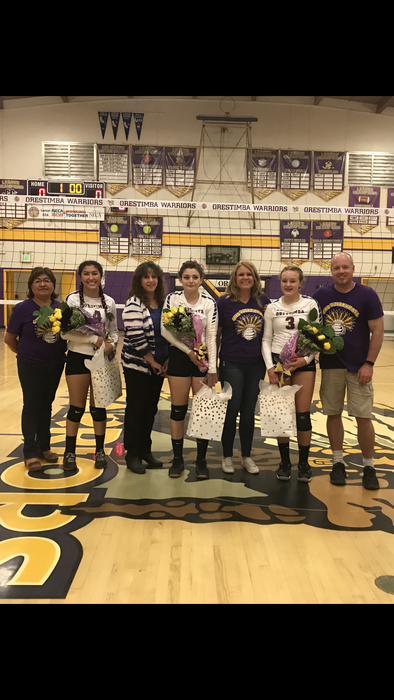 Senior night for our Lady Warriors!