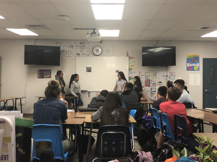 Students take on roles of jury, defense or prosecution as they present evidence for or against the actions of characters from the story Rikki Tikki Tavi.