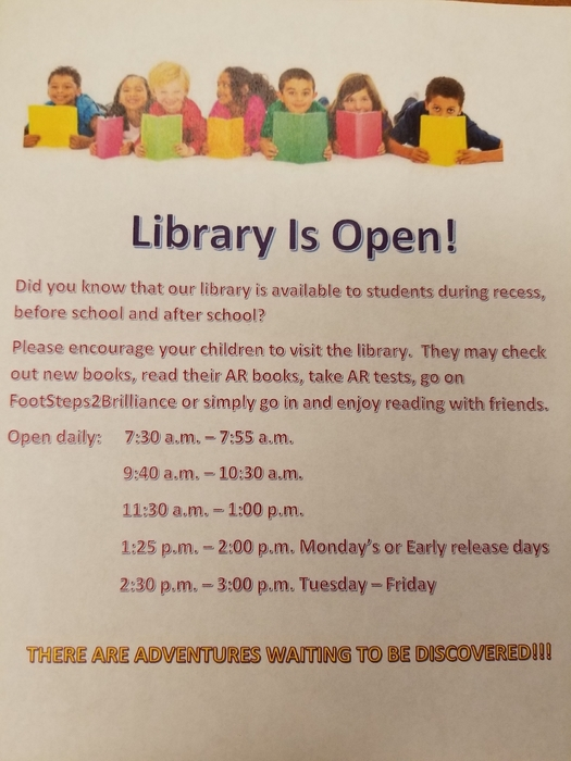 Library is Open!