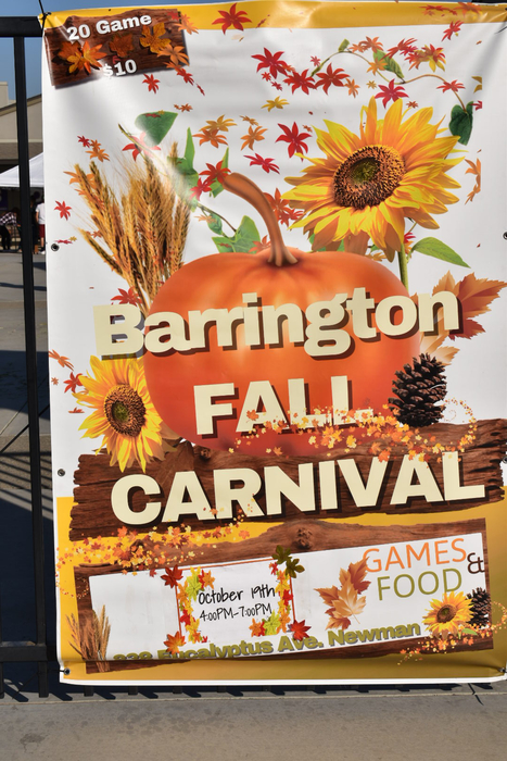 Fall carnival sign