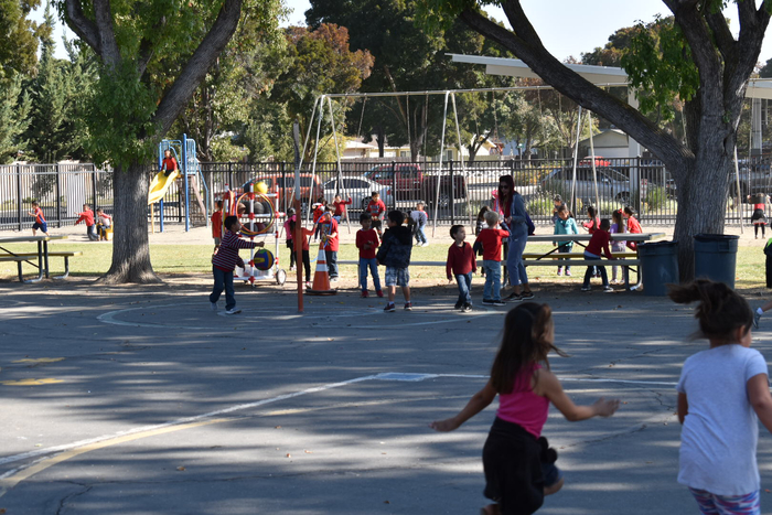 Playground full of red for red ribbon week