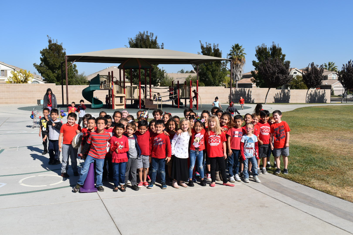 Barrington students excited to wear Red for red ribbon week