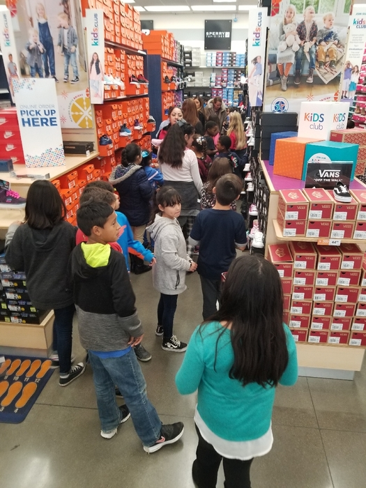 Students shopping for shoes