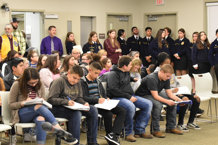 Students at board meeting