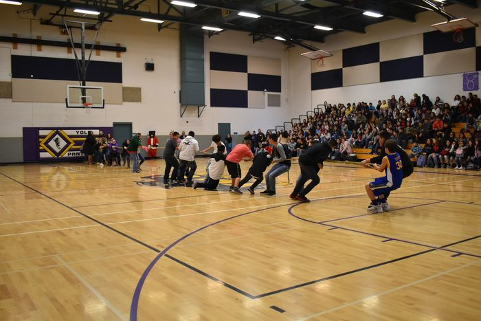 Staff vs. students tug-of-war