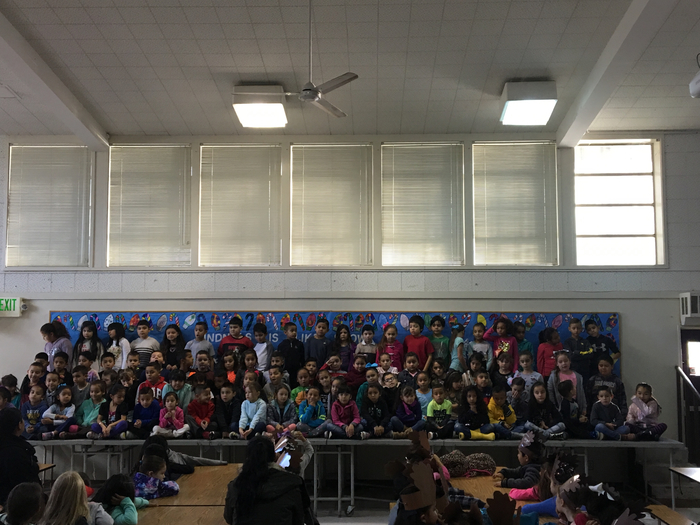 First Grade's Winter Performance Rehearsal