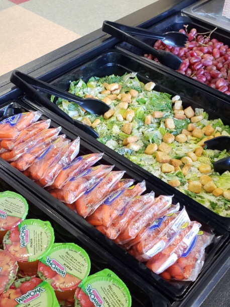 Fresh items on the salad bar