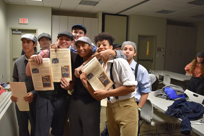 Newsies backstage