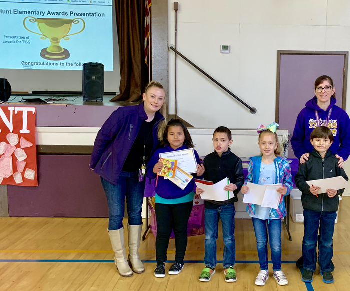 1st Grade Students of the Month: February