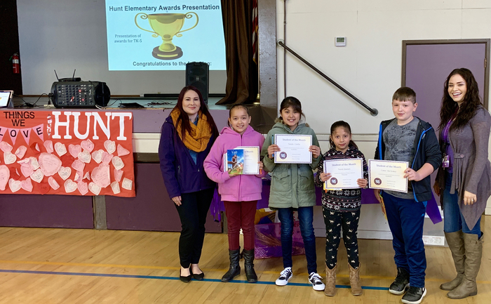 4th Grade Students of the Month: February