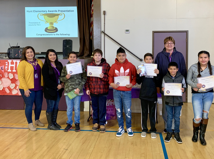5th Grade Students of the Month: February
