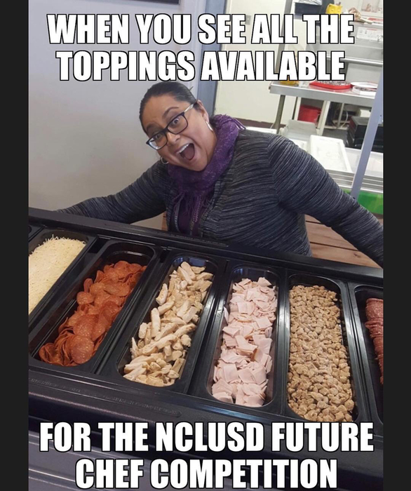 Mrs. Manriquez amazed at all of the topping options