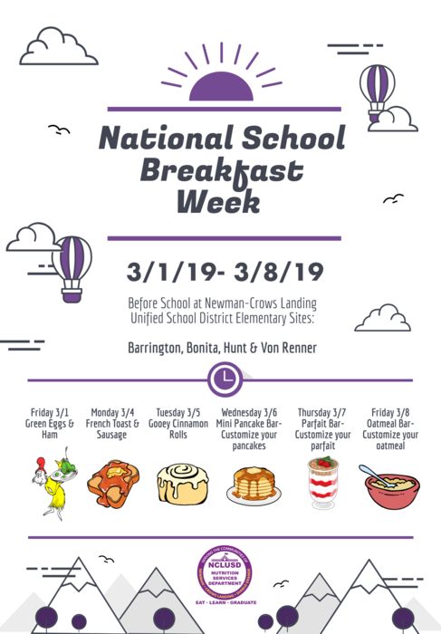 National School Breakfast in English