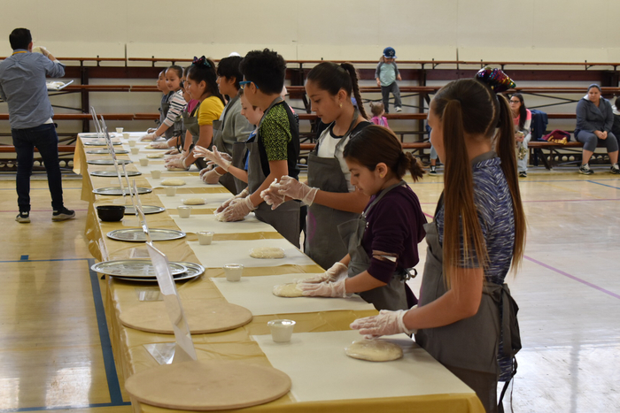 Students working crust