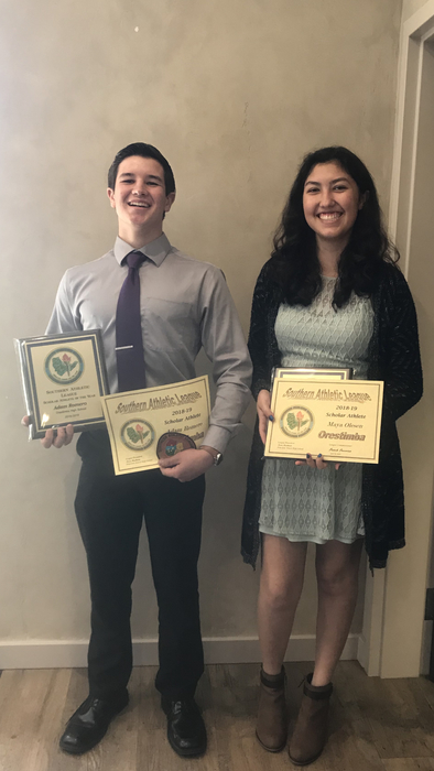 2018/2019 Southern Athletic League Scholar Athletes