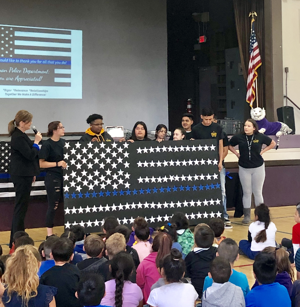 OHS Warrior Watch presents flag
