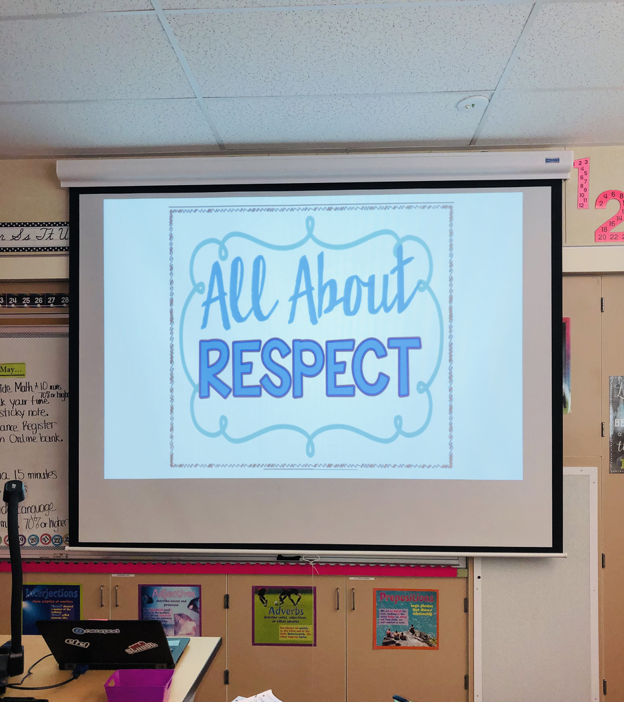 Character trait of the month, respect.