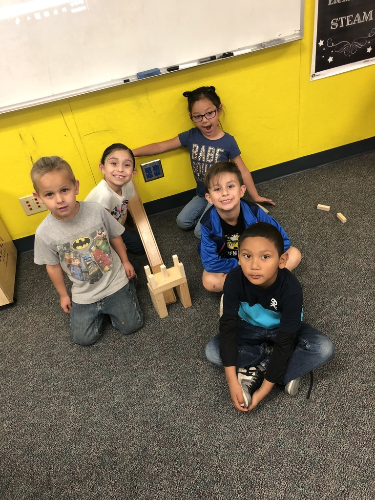 Mrs. Dhaliwal's Class learning about ramps and force of motion in STEAM Lab.