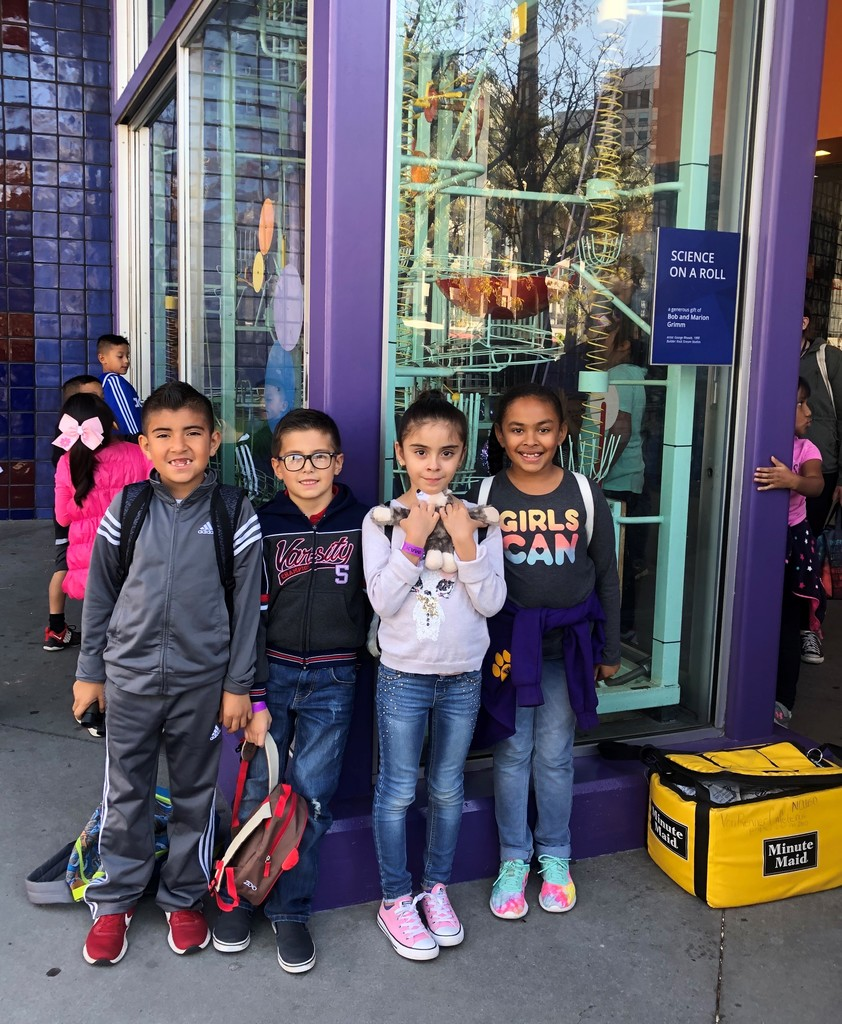 Students on their first field trip to The San Jose Tech Museum