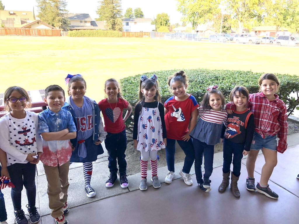 Red, White and Blue Day!