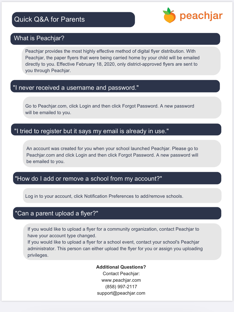 Peachjar FAQ's in English