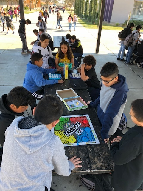 National No One Eats Alone week. Students engage in lunch time activities with old and new friends.