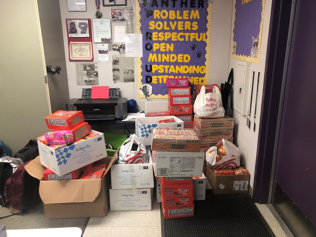 Yolo contributed to the ramen and peanut butter drive by adding a total of 1,881 items. Way to go Panthers!