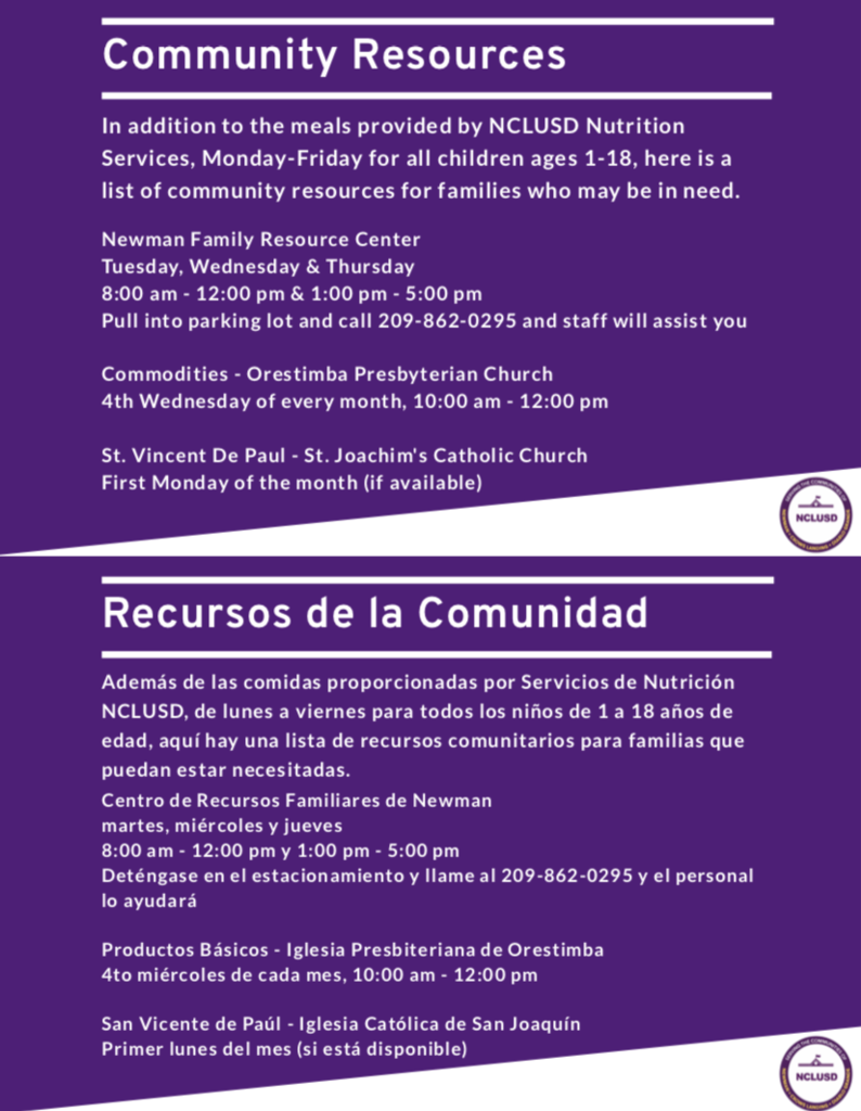 community resources flyer