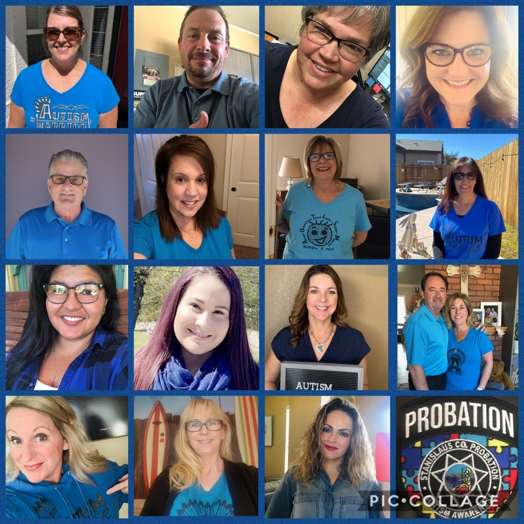 NCLUSD staff wearing blue