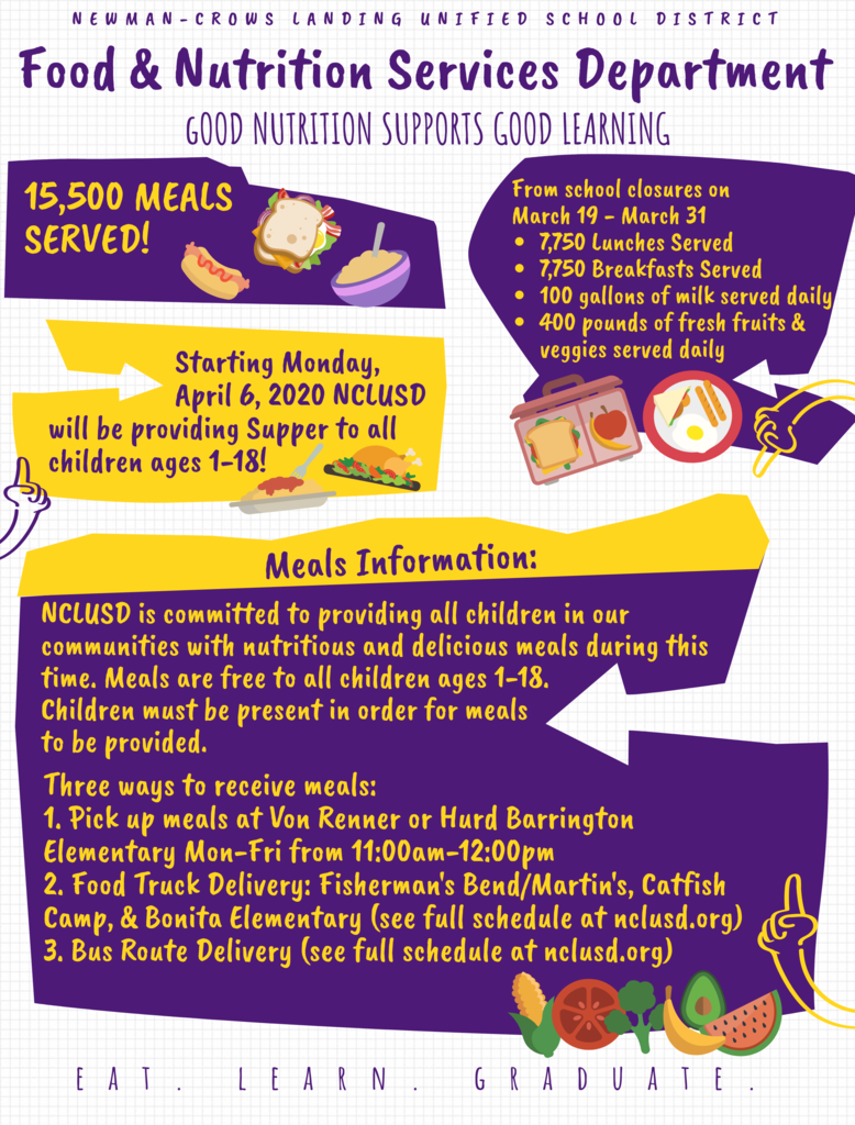 Nutrition Services Flyer in English