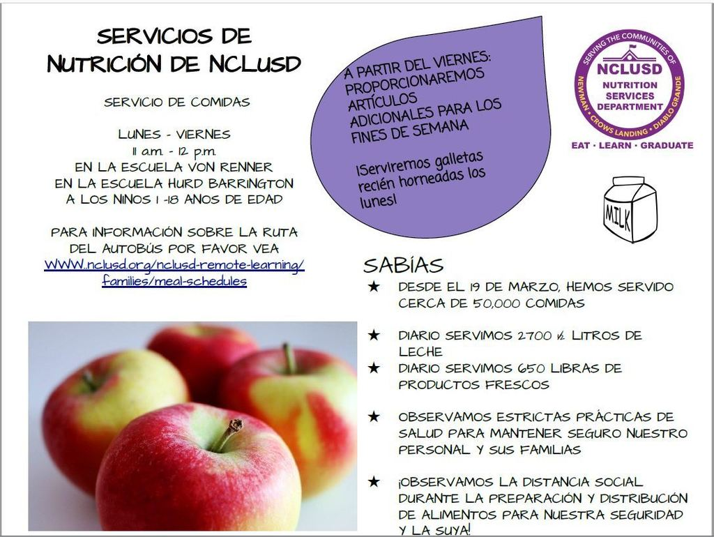 Spanish Lunch Flyer