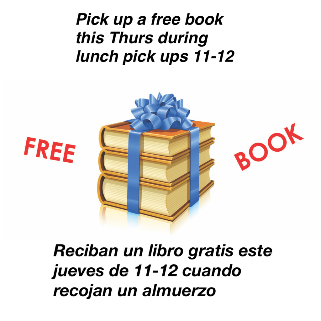 Free Book with Lunch Pick Up Thursday 11-12