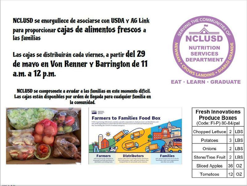 Fresh Food Boxes Flyer-Spanish