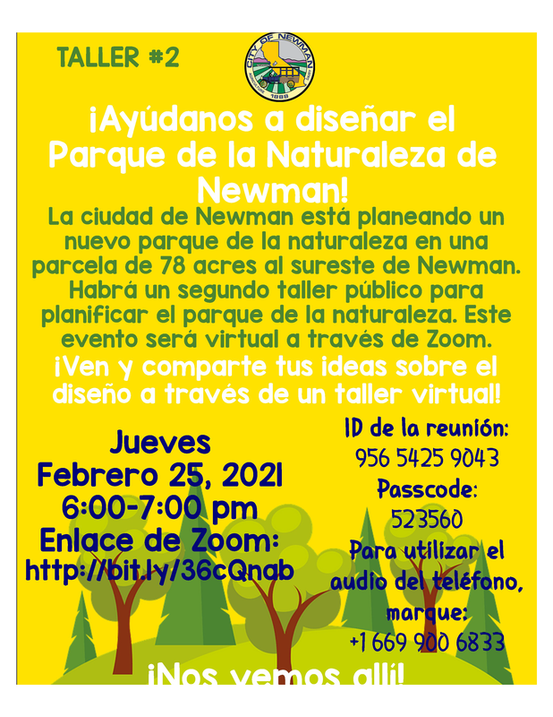 Newman Park Workshop 2 - Spanish