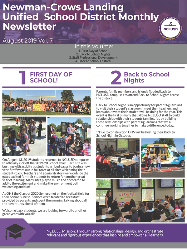 August 2019 Newsletter Link to English PDF