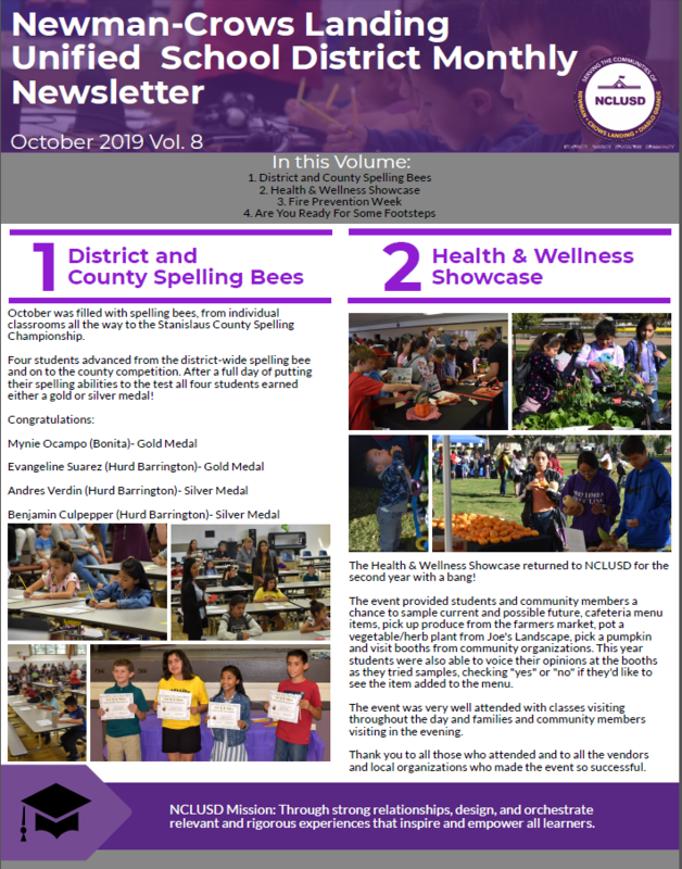 NCLUSD October 2019 Newsletter-link to PDF